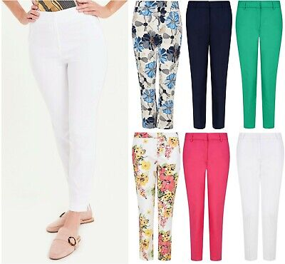£8.95 • Buy Ladies Womens Ankle Grazer 3/4 Trousers Cotton Chino's Light Summer Easy 7/8 NEW