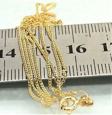 £69.95 • Buy 9ct Gold Chain Curb 20   Chain Solid 9 Carat Yellow Gold 20 Inch Brand New