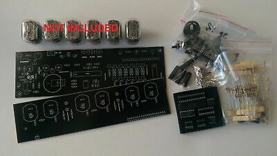 Nixie Tube Clock KIT IN-12 Six Digit Tubes Date Temperature Tubes NOT Included • 42.22£