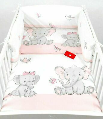 £20.99 • Buy 3 PIECES NURSERY - BABY BEDDING SET- BUMPER- PILLOW-QUILT COVER To Fit COT
