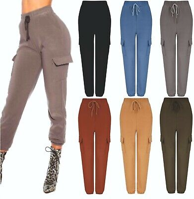 £7.79 • Buy Ladies Womens Combat Trousers Leggings Joggers Spring Summer Lounge Bottoms NEW