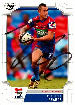 AU11.99 • Buy ✺Signed✺ 2020 NEWCATLE KNIGHTS NRL Card MITCHELL PEARCE