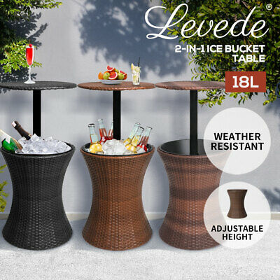 AU129.99 • Buy Levede Cooler Ice Bucket Table Bar Outdoor Setting Furniture Patio Pool Storage