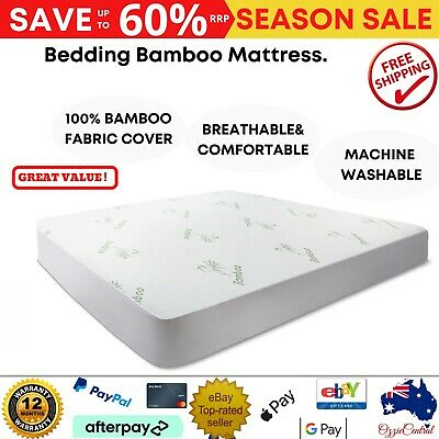 AU43.72 • Buy Luxury Bamboo Mattress Bed Matress Protector Waterproof Breathable Cover Double