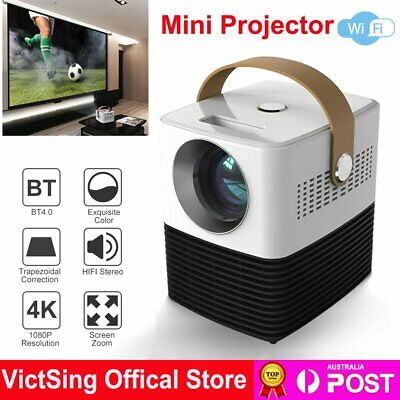 AU182.88 • Buy HD 1080P Mini Projector LED Home Theater Portable Video Cinema Wifi HDMI USB 3D