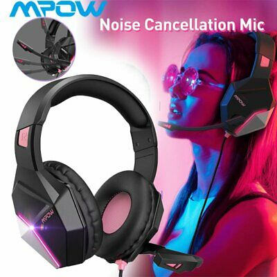 AU45.99 • Buy Mpow Gaming Headset Wired LED Headphones Stereo With Mic For Xbox One/PS4 PC