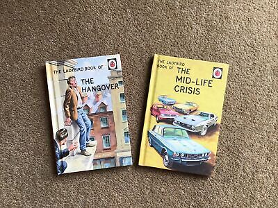 Ladybird Books For Adults 'The Mid-Life Crisis' And 'The Hangover' • 2.90£