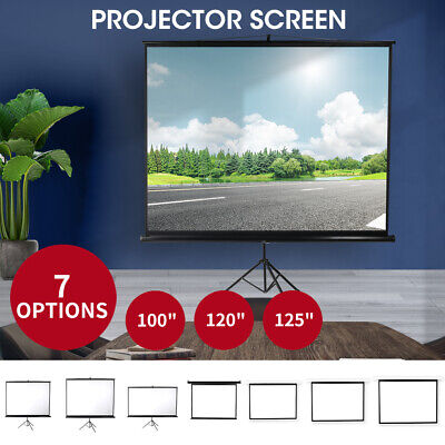 AU107.99 • Buy 100/120 Inch Projector Screen Motorised Tripod Stand Retractable 3D Cinema Home