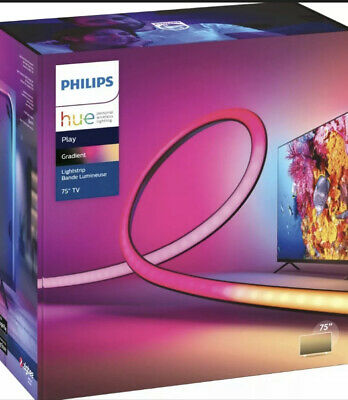"""AU503.75 • Buy 🔥Philips Hue Play Gradient Lightstrip For 75""""+ TVs- In Hand - Fast Shipping 🔥"""