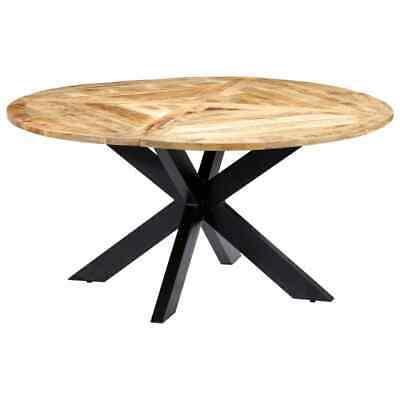 £378.99 • Buy Dining Table Round 150x76 Cm Solid Mango Wood Home Furniture