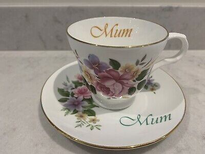 Vintage Bone China Floral Tea Cup And Saucer Staffordshire Mum Mother's Day • 4.20£