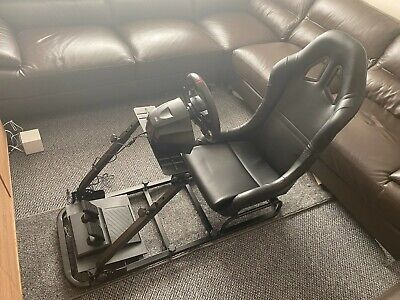 Simulator Chair Racing Seat Driving Game Xbox Playstation PC F1 VR Gaming Wheel • 164.50£