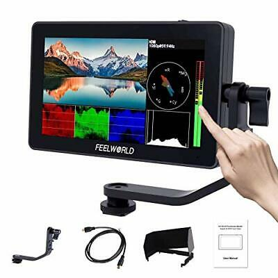 AU473.82 • Buy FEELWORLD F6 Plus 5.5 Inch DSLR On Camera Field Monitor Touch Screen 3D Lut