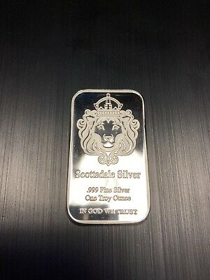 Scottsdale 1oz Silver Bar Ingot In Caplsule • 29.04£