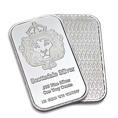 Scottsdale 1oz Silver Bar Ingot In Caplsule • 29£