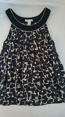 $ CDN19.02 • Buy White House Black Market 100% Silk Sleeveless Blouse Size L