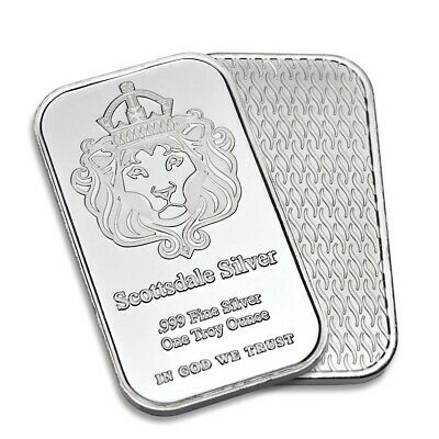Scottsdale 1oz Silver Bar Ingot In Caplsule • 0.01£