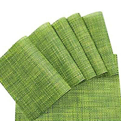 AU32.49 • Buy 6x Green PVC Placemats Washable Heat Insulation Dining Table Place Coaster Mat B