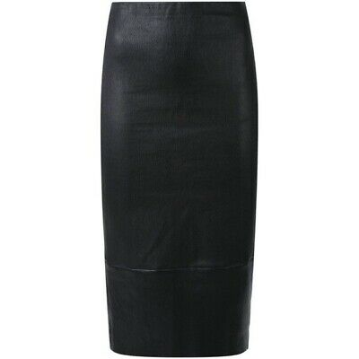 AU175 • Buy Scanlan & Theodore Stretch Leather Pencil Skirt Dark Violet - Size 8