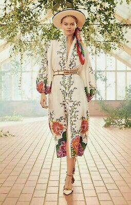 AU199 • Buy BNWT Zimmermann The Lovestruck Buttoned Midi Dress Paisley Floral Size 1