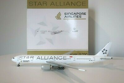 AU1200 • Buy RARE - Singapore Airlines 777-300ER 1:200 Star Alliance - 9V-SWI - Inflight 200