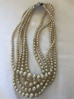 5 String Imitation Pearl Necklace • 0.99£