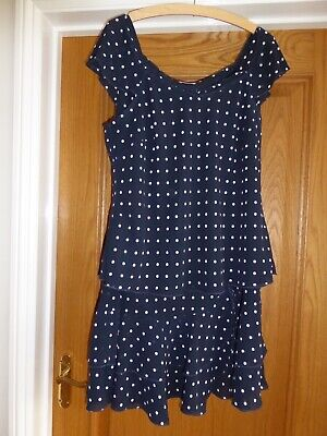 Ladies Libra Polka Dot Top And Skirt Set To Fit Size 18 • 10£