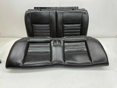 $335 • Buy 1999-2004 OEM Ford Mustang Coupe GT Leather Rear Seats Back Seat Charcoal |S9550