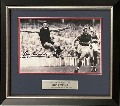AU69 • Buy RON BARASSI Autograph Signed Photo 8x10 Melbourne Demons VFL AFL COA