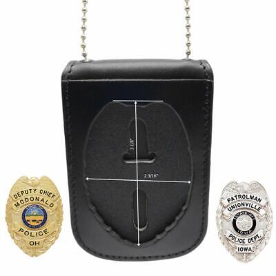£19.82 • Buy Police And Fireman - Leather Badge And ID Holder With Neck Chain - 2.75  X 4