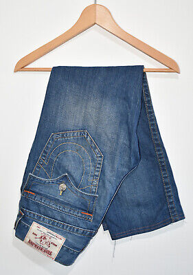 True Religion Jeans Vintage Blue World Tour Size 30 Waist 33  REWORK SHORTS ONLY • 19.99£