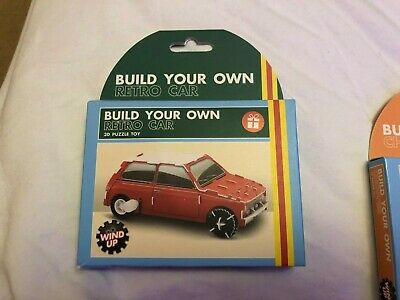 £6 • Buy BUILD YOUR OWN Wind Up RETRO CAR PUZZLE KIT