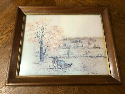 $ CDN100.65 • Buy Fox In The Meadow * Framed And Signed By Phil Prentice 1977