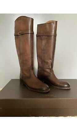 Women's Gucci Betis Brown Leather High Knee Shoes Boots Size EUR 40, UK 7 • 280£