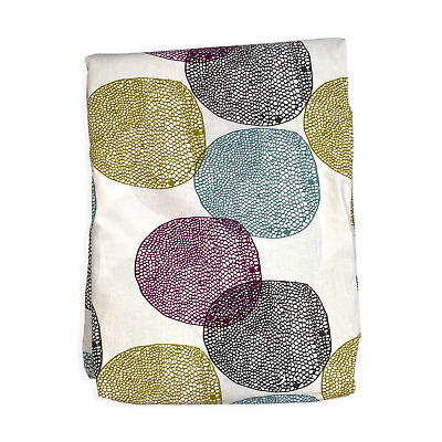 IKEA Malin Rund Twin Duvet Cover Bedroom Bed Cover Snap Button Cotton Kids • 14.46£