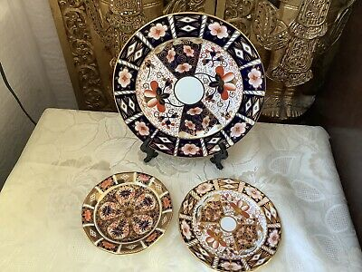 Royal Crown Derby Imari 2451 And C1128 Plate , Saucer,side Plate • 45£