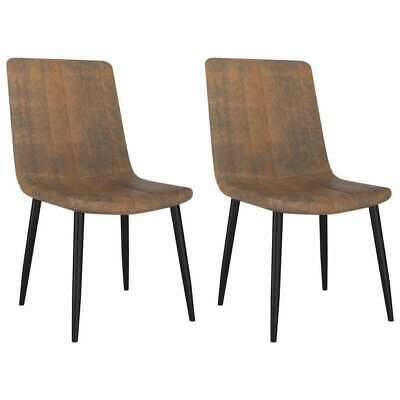 AU122.95 • Buy New Dining Chairs 2 Pcs Brown Faux Leather 7252
