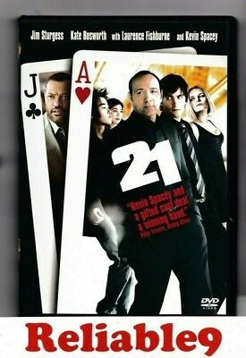 AU6.95 • Buy Kate Bosworth+Kevin Spacey- 21 DVD+Special Features Region 4-2008 Sony Australia