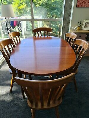 AU350 • Buy Mid Century 6 Seater Extendable Dining Table And 6x Chairs