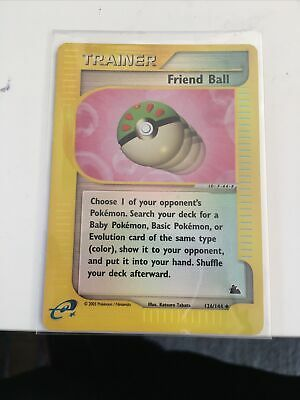 Friend Ball 126/144 - REVERSE HOLO Trainer Card - Pokemon Skyridge - Near Mint • 3.20£
