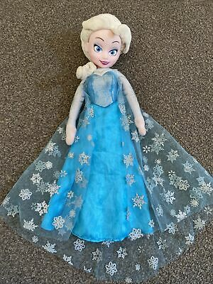 Disney Plush Doll Princess Elsa Soft Toy Teddy Collectible Plastic Head • 6.90£