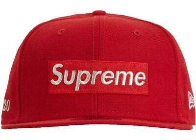 $ CDN126.57 • Buy Supreme Champions Box Logo New Era Hat Cap Size 7 1/2 Red SS21 Brand New 2021