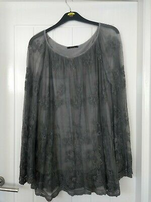 Lagenlook Lace Tunic, Bojo, Quirky, Rock Chick, Goth, Arty OSFA • 1.99£
