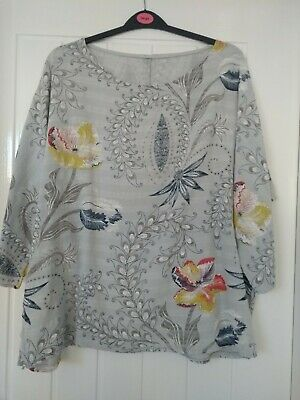 Made In Italy, Lagenlook, Asymetric, Boho, Quirky Arty Top Tunic OSFA • 2.40£
