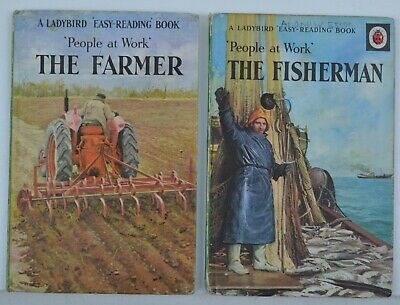 Vintage Ladybird Book People At Work Series 606B The Fisherman + The Farmer 2'6 • 6.99£