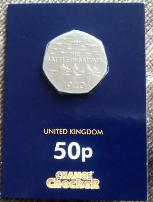 2015 Battle Of Britain 75th Anniversary 50p Fifty Pence Coin In Blue Card • 4£