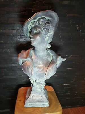 Cast Stone French Lady Bust Statue Sculpture Home Garden  • 49.99£