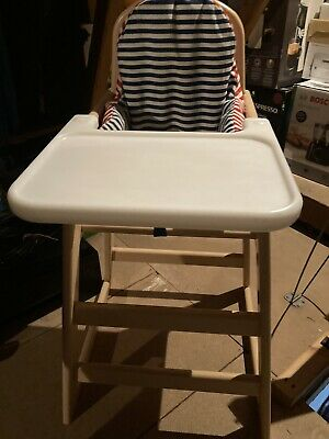 Baby Toddler Childs High Chair Sturdy With Ikea Cushion Padding Girls Boys • 9.99£
