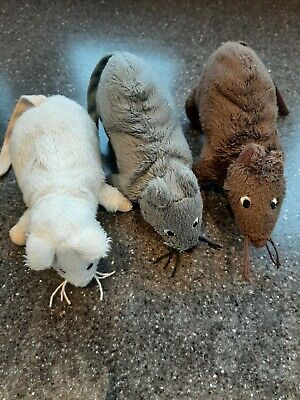 Soft Toy Mice X 3 Ikea White Brown Grey Small Plush Mouse Kids Toy  • 11.50£