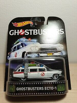 HOT WHEELS Cadillac Ghostbusters Ecto-1 Retro Entertainment 1/64 3 Inches • 9.91£
